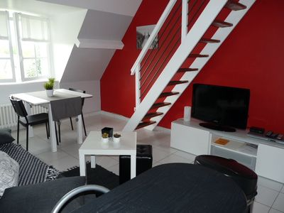 Photo for apppartement rent duplex furnished and equipped with a room