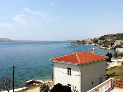Photo for One bedroom apartment near beach Metajna, Pag (A-6351-b)