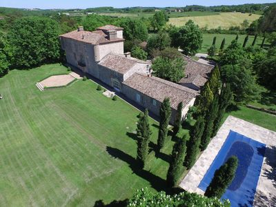Photo for 17Century  7 bedroom Chateau with pool and tennis court