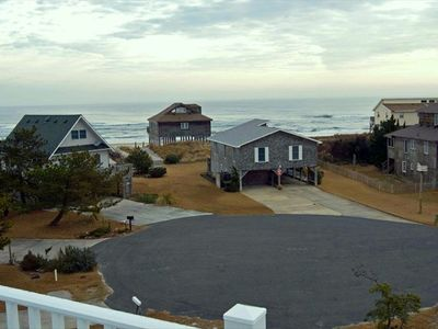 Beach access is across the cul-d-sac between the 2 driveways.
