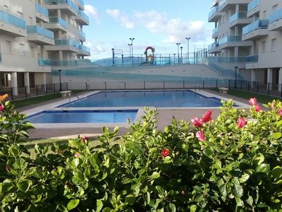 Photo for Modern apartment located and the beach of las piles. .
