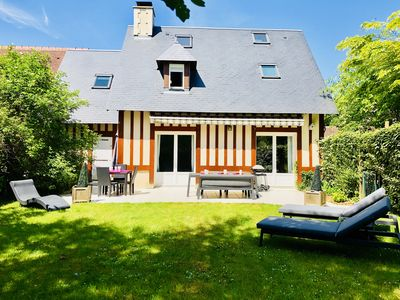 Villa On Deauville Near Beach Area Of Clairefontaine Swimming Pool And Tennis Saint Thomas De La Touques