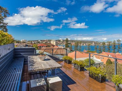 Photo for Contemporary Manly sunny beach house with glorious , sweeping harbour views.