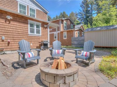 Photo for Luxurious Home in Rockaway has Bricked Patio and Firepit for Gathering Time Under the Stars!