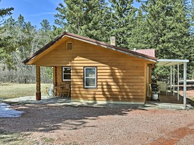 Photo for Black Hills Historic Cabin-Fireplace, Grill & Deck