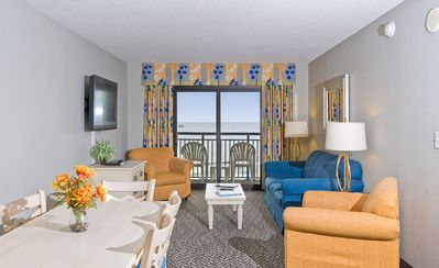 Photo for Spectacular Angle Oceanfront Views! Fun For All! 3 Bdrm Condo, Great Location!!