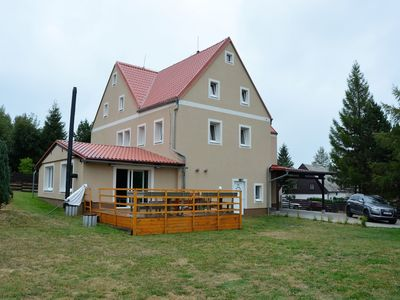 Photo for Spacious cottage with 7 bedrooms, 3 bathrooms and sauna in the Ore Mountains