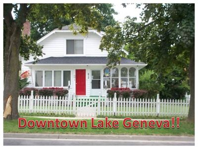 Photo for We Rent FUN!! Downtown Lake Geneva~beach, boat rentals, restaurants, shopping!!
