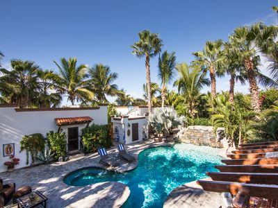 Photo for Casa Cascada View casita !! a private palm and pool oasis minutes to the beach !
