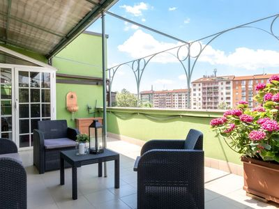 Photo for The Lounge Balcony apartment in Navigli with WiFi, air conditioning, private terrace & lift.