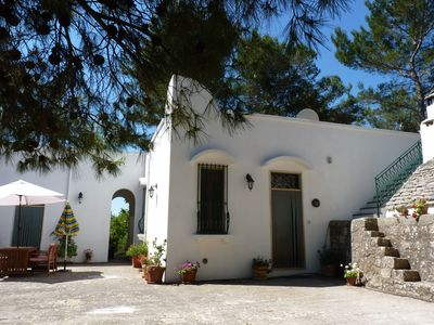 Photo for An idyllic country villa  and trullo with pool set in peaceful private grounds.