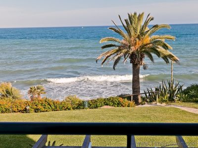 Photo for Beautifully presented town house next to the sea, Doncella Beach, front line in Estepona