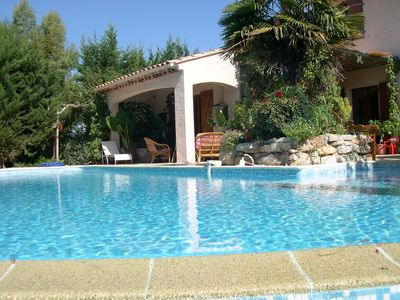 Photo for The house swallows, beautiful character house in the var. Heated pool.