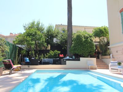 Photo for 5 min walk from the Palais Festival mansion with pool and 7 bedrooms