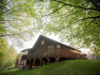 Photo for The Cedar House Is Uniquely Set In The Forest Surrounded By Decks And Porches.