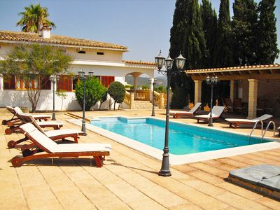 Photo for This 4-bedroom villa for up to 8 guests is located in Sa Pobla and has a private swimming pool, air-