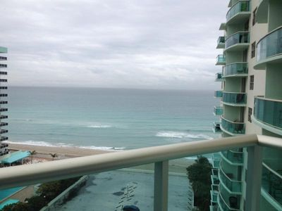 Photo for Oceanfront Condo with Stunning View!  Free Wifi, Pool & Gym! Steps from Beach!