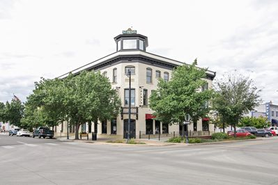 The St. Regis building is located at the corner of 4th St. and Colorado Ave.