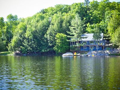 Photo for Watersedge Lakehouse is a mere 15 feet back from the edge of Lake of Bays.