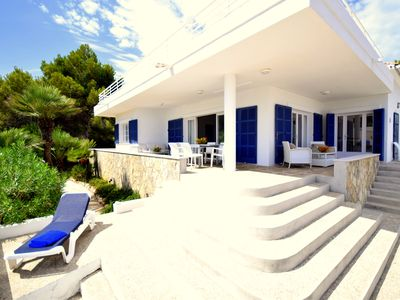 Photo for Modern high quality beach villa Na Pilena with sea view in a very quiet area
