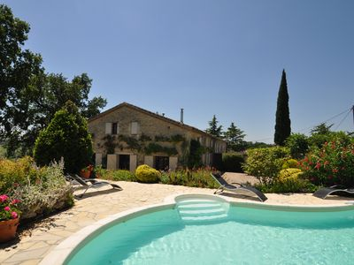 Photo for Charming farmhouse, private pool, set by orchard, lovely views over the valley.