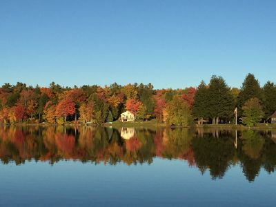 Photo for Berkshires  Private Large Lakefront Home On Robin Hood Lake