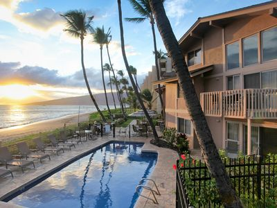 Photo for Kihei Sands Beachfront Condo A4 on Maui's Beautiful Sugar Beach!