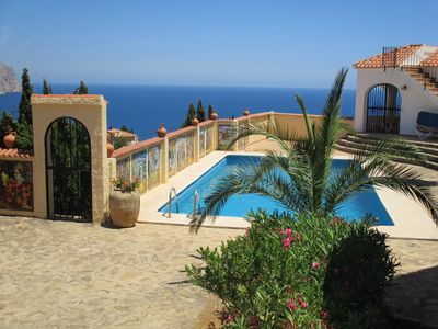 Photo for Apartment No. 1 with amazing sea views, communal BBQ area, WiFi, pool