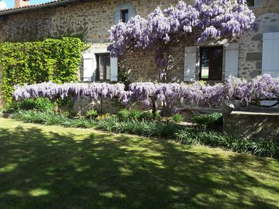 Photo for L'arbre Magnolia, a tranquil, luxurious gite near Nontron with shared pool