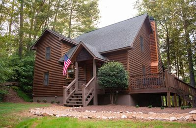 Photo for Hot Tub.  River view and access.  Fire pit.  Fireplace.  WiFi.  20% OFF with 1 Wk Stay.