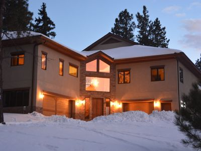 Photo for 5 Bedroom luxury cabin on the golf course, sleeps 19 with a hot tub & fire pit