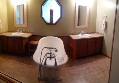 Master Bath, claw foot tub, YES!
