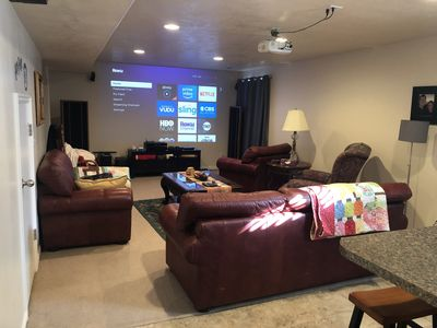 Photo for Large Basement, close to ski resorts and Mountain America convention center.