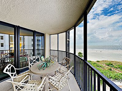 Balcony - Welcome to Fort Myers Beach! This corner unit is professionally managed by TurnKey Vacation Rentals.