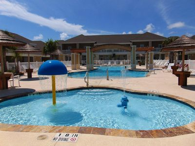 Photo for 1b/1b for 6 (max4adults)! Heated pools! Steps from the BEACH!Netflix!Playground!