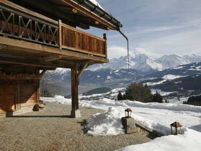 Photo for Alpine chalet of 250m2 in a quiet area facing Mt Blanc