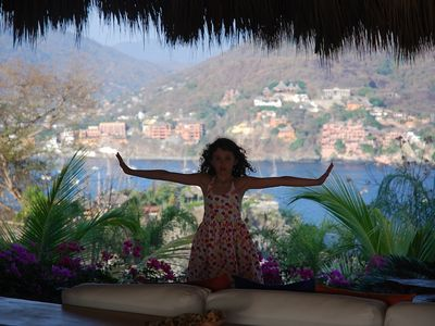 Expansive view of Zihuatanejo Bay - from town, to Playa La Ropa and Las Gatas.