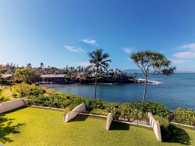 Photo for NEW LISTING! Oceanfront condo w/lanai & shared pool - walk to beaches