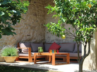 Photo for Large, renovated Catalan house, in the heart of the vineyard between sea