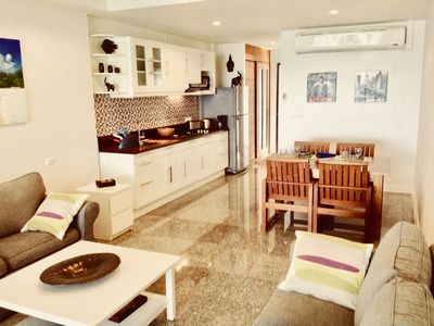 Photo for MAGNIFICENT SEA VIEW, BEAUTIFUL APARTMENT, 64 M2, WITH LARGE POOL A OVERFLOW