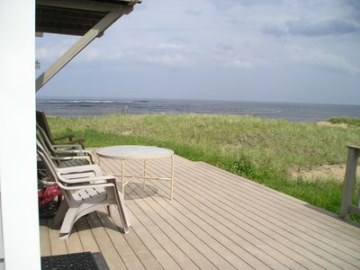 Photo for oceanfront home, panoramic views, full beach access