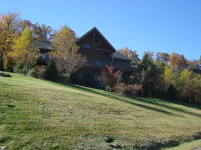 Mountain-facing side of house.