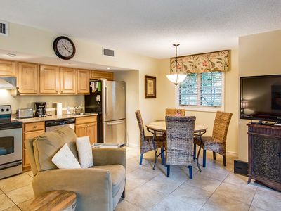 Photo for First floor villa with lagoon views from screened porch - steps from the beach!