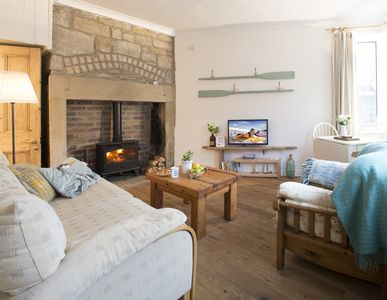 Photo for Quirky, cosy, dog/walking friendly cottage on the fabulous Northumberland Coast.