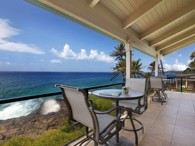 Photo for 2 BR/2 BA Ocean Front condo in Poipu w/ Amazing Oceanfront Views & Central AC!