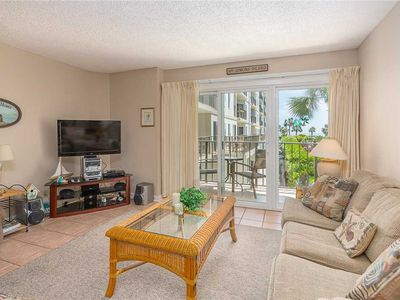 Photo for Spacious and Oceanfront Condominium with Pool, Beach Access, Fitness Center, Tennis!