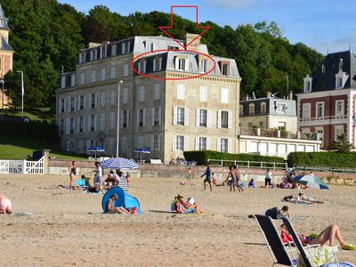 Photo for 2 rooms Trouville on sea. Direct access to the beach