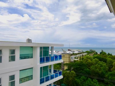 Photo for Summer Huahin, Full furnished condo on top with  sea view,5min walk to the beach