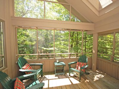 Photo for Roomy 3b/3b Condo Perched in a Wooded Hillside near Glen Arbor. Walk to Ski!