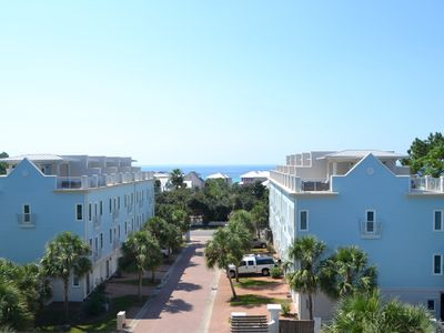 Photo for GULF VIEWS!Large End Unit/4BR/4BA/Walk to beach/Dining & Shops/Sleeps11